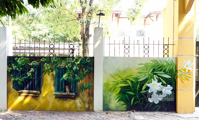 Hà Nội xưa đẹp lạ qua tranh bích họa trên phố-10