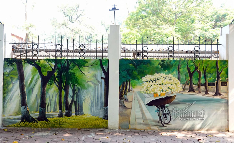Hà Nội xưa đẹp lạ qua tranh bích họa trên phố-11