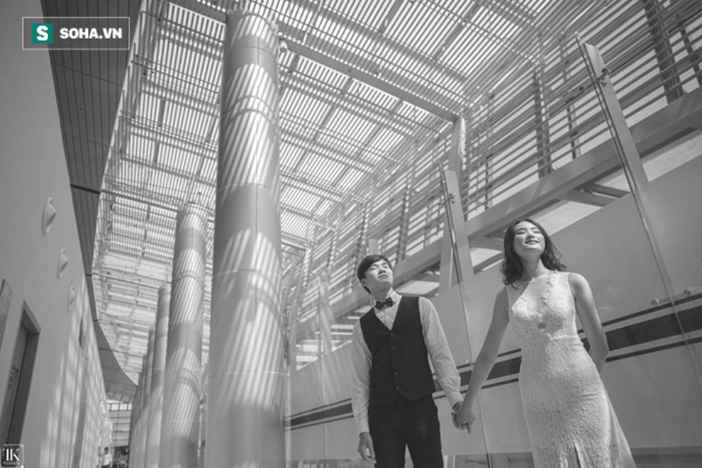 Bộ ảnh cưới siêu chất khiến dân đất Cảng thích thú: Đến nhà vệ sinh trong sân bay cũng ảo!-11