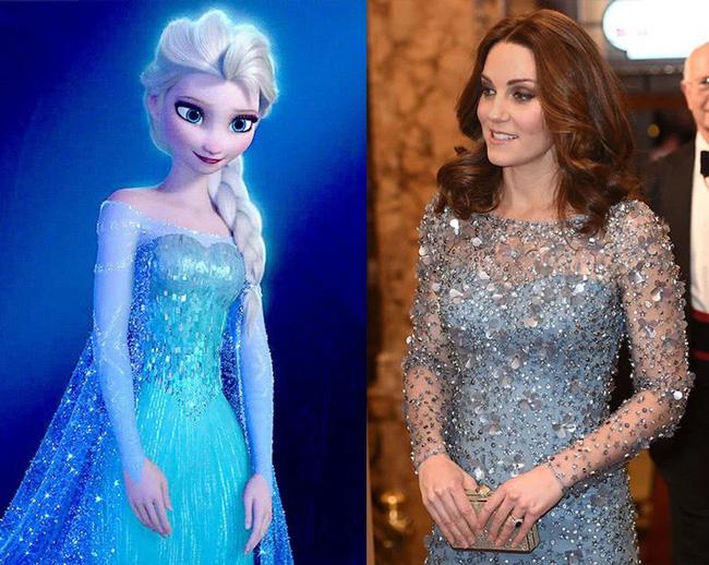 Công nương Kate nào có khác gì Công chúa Disney đời thực với 3 lần lên đồ như bước ra từ hoạt hình-2