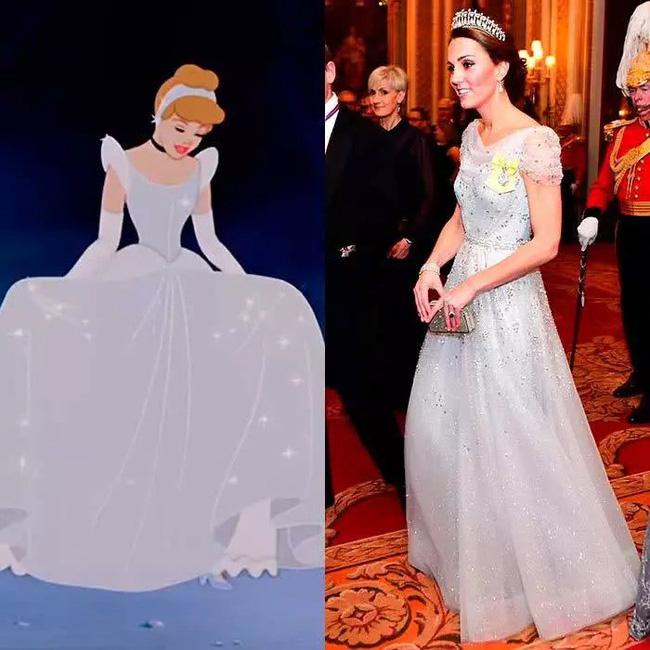 Công nương Kate nào có khác gì Công chúa Disney đời thực với 3 lần lên đồ như bước ra từ hoạt hình-3