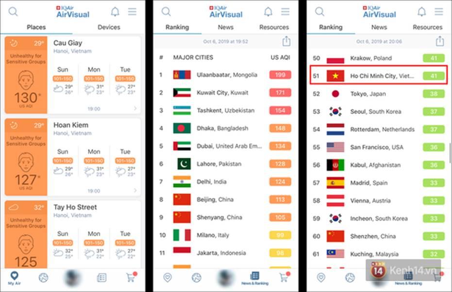 Ứng dụng AirVisual bỗng dưng biến mất trên chợ ứng dụng ở Việt Nam, Hà Nội không có tên trong BXH nữa-3
