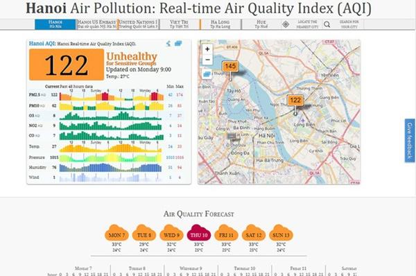 """App AirVisual đưa thông tin không chuẩn xác và gỡ bỏ, Hà Nội vẫn ô nhiễm không khí nặng nề và người dân nên xem ở những web, app uy tín""""-5"""