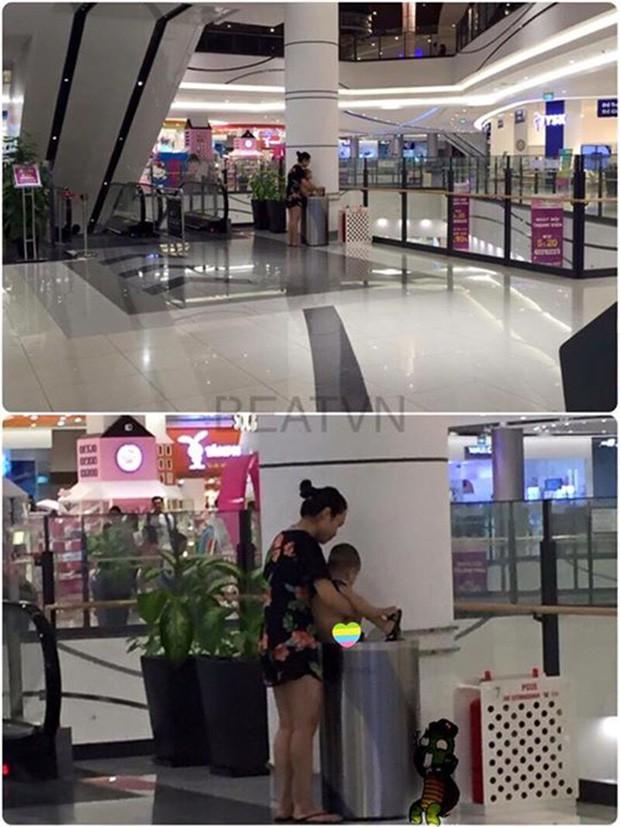 Xôn xao hình ảnh vợ chồng trẻ thản nhiên cho con đi tiểu ngay giữa lối đi tại sân bay-4