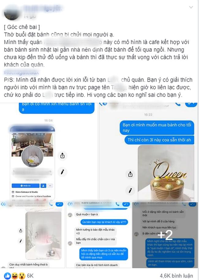 Hỏi Cửa hàng còn bánh không ạ?, nữ khách hàng bị shop online đáp trả 1 câu kệ con... mày và sự thật khiến dân mạng cực kỳ bức xúc-1