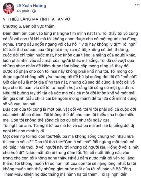 NS Xuân Hương tung bằng chứng, kể chuyện chồng cũ nhớ nhung thằng vợ rồi cải thiện bằng cách gọi người đấm bóp về nhà-1