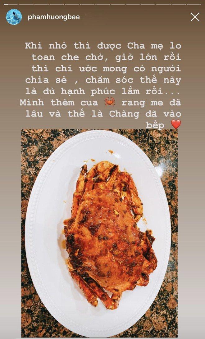 Giấu kín hôn phu đại gia, Phạm Hương sung sướng được người ấy chăm sóc, nấu món ăn đặc biệt-2
