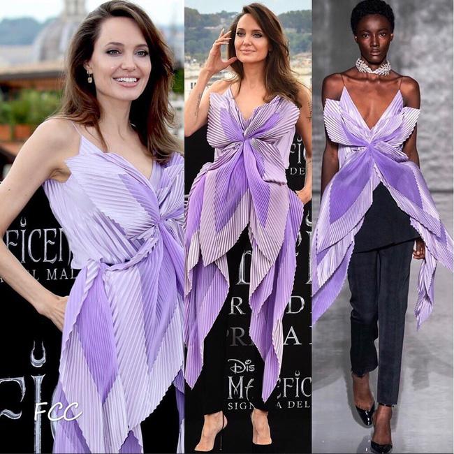 """Angelina Jolie lại chiếm spotlight với diện mạo như nữ thần Hy Lạp khi thay liền 2 bộ đồ từ khó cảm"""" đến gợi cảm-4"""