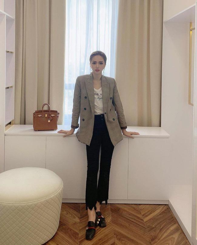 Học ngay 11 set đồ của Hoa hậu Hương Giang cách mix quần jeans từ đơn giản đến cá tính-7