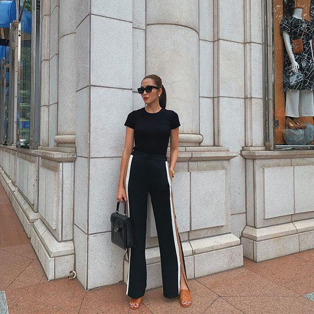 Mặc skinny jeans bị chê gầy nhom, Tăng Thanh Hà đổi ngay quần xẻ tà liền quyến rũ hơn hẳn-6