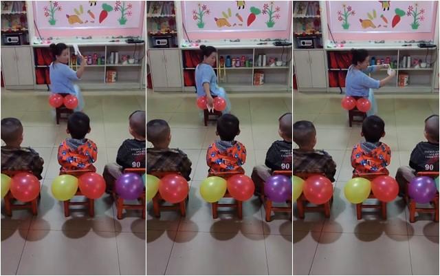 Cô giáo mầm non dạy trẻ kỹ năng lau chùi sau khi đi vệ sinh, nhưng mọi người không nhịn được cười vì khoản tiết kiệm của cô-3