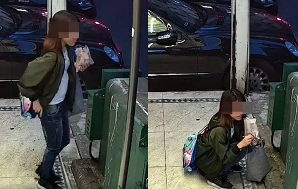 Cô gái trẻ đang ăn kem thì bỗng ngồi bệt xuống sàn làm chuyện không tưởng khiến dân mạng vừa xấu hổ giùm vừa phẫn nộ-1
