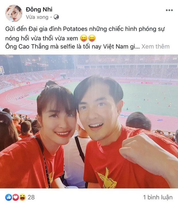 Đông Nhi - Ông Cao Thắng, Bảo Anh cùng dàn sao Vbiz vỡ oà trước siêu phẩm ngả người volley mở màn tỷ số 1-0 của Quang Hải-2