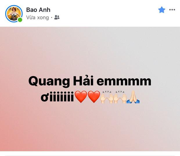 Đông Nhi - Ông Cao Thắng, Bảo Anh cùng dàn sao Vbiz vỡ oà trước siêu phẩm ngả người volley mở màn tỷ số 1-0 của Quang Hải-3