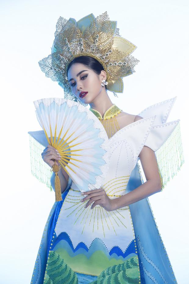 Ấn tượng với quốc phục mang cả hồ sen, đính kết 5000 viên pha lê mỹ nhân Việt chọn mang đến Hoa hậu Trái đất-4