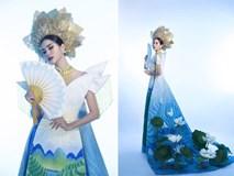Ấn tượng với quốc phục mang cả hồ sen, đính kết 5000 viên pha lê mỹ nhân Việt chọn mang đến Hoa hậu Trái đất