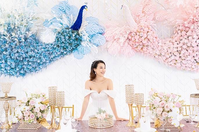 Á hậu Hoàng Oanh diện váy cưới, tiết lộ đám cưới trong mơ-5