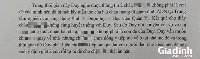 ADN của 2 bé tử vong vì bố ép uống thuốc sâu ở Hà Nội không trùng với nhau-3
