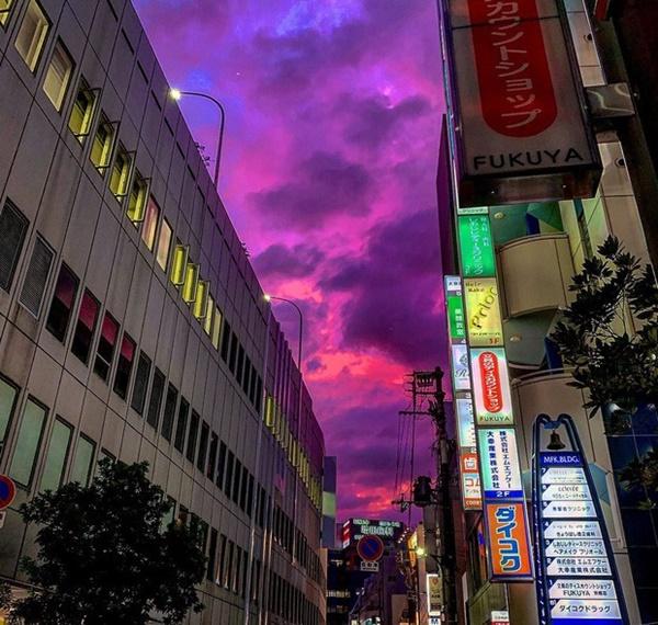 Trái ngược với bầu trời tím dự báo điềm dữ trước khi Hagibis đổ bộ, dân Nhật hứng khởi với cảnh quang đãng, trăng sáng rực lúc siêu bão đi qua-2