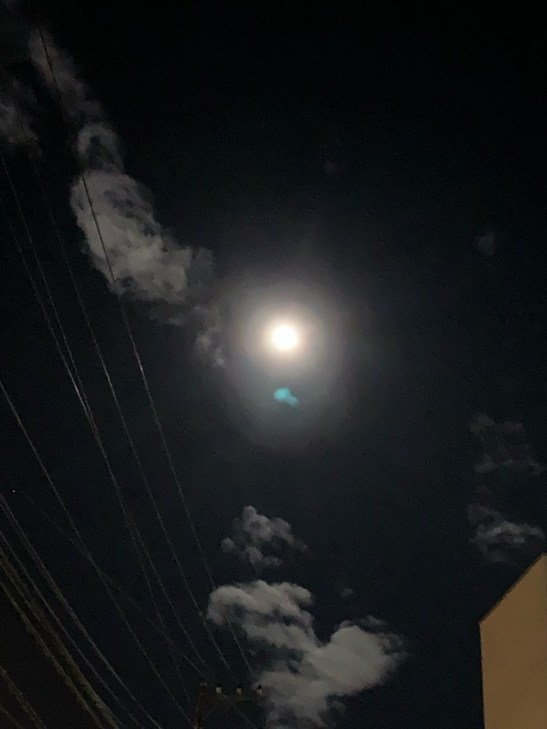 Trái ngược với bầu trời tím dự báo điềm dữ trước khi Hagibis đổ bộ, dân Nhật hứng khởi với cảnh quang đãng, trăng sáng rực lúc siêu bão đi qua-9