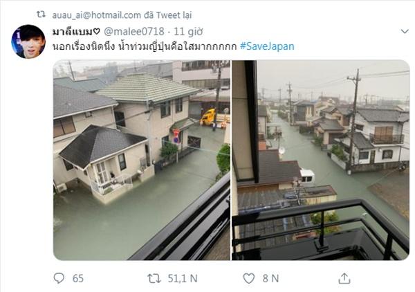 Cộng đồng mạng sửng sốt trước cảnh nước lũ ngập Nhật Bản vẫn sạch trong, không một cọng rác-4