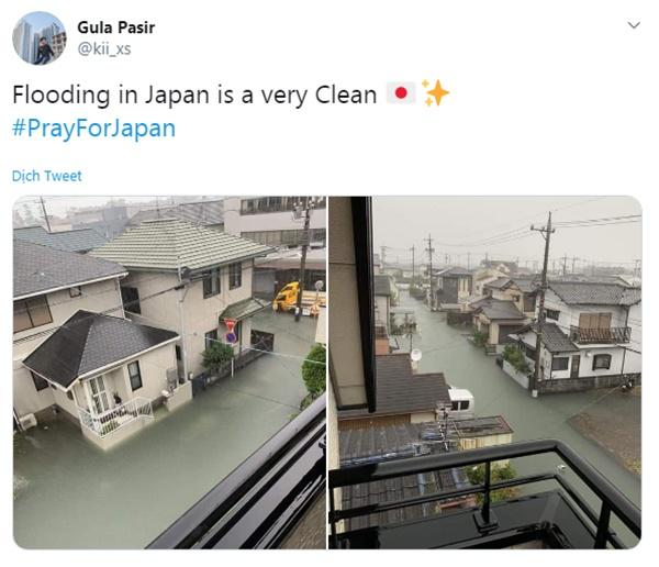 Cộng đồng mạng sửng sốt trước cảnh nước lũ ngập Nhật Bản vẫn sạch trong, không một cọng rác-5