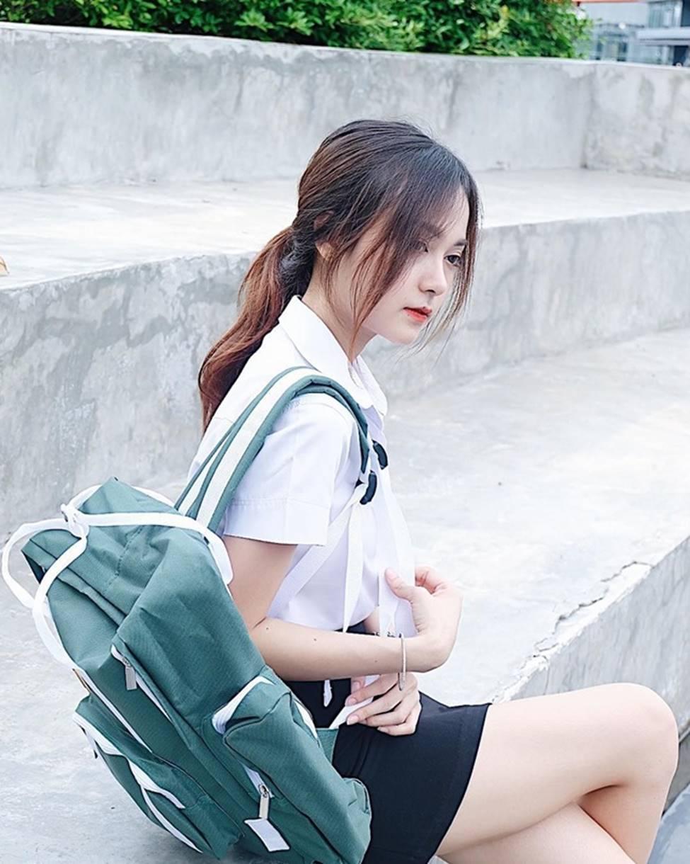 Rơi mác ngoan khi không mặc đồng phục nữ sinh, hot girl Thái Lan gợi cảm tột bậc-10