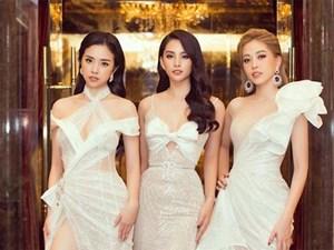 Tiểu Vy, Phương Nga, Thúy An 'đọ sắc' với váy cắt xẻ táo bạo và gợi cảm