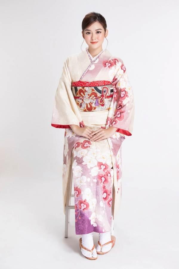 Á hậu Tường San diện kimono xinh đẹp, hoá mỹ nhân xứ Phù Tang-3