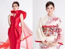 Á hậu Tường San diện kimono xinh đẹp, hoá mỹ nhân xứ Phù Tang
