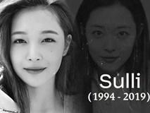 SM Entertainment chính thức xác nhận Sulli qua đời: