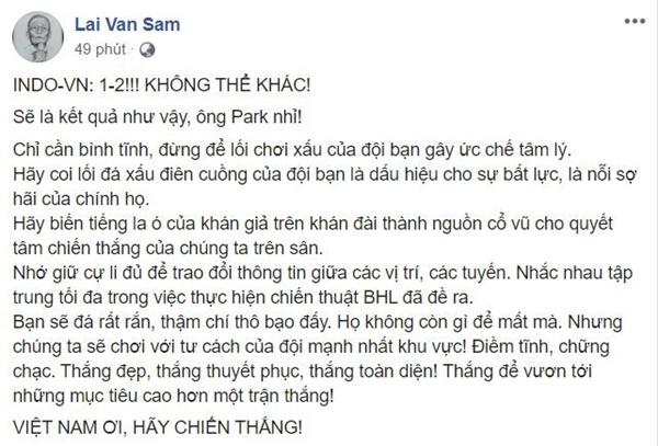 Việt Nam vẫn xếp sau Thái Lan sau trận thắng Indonesia-25