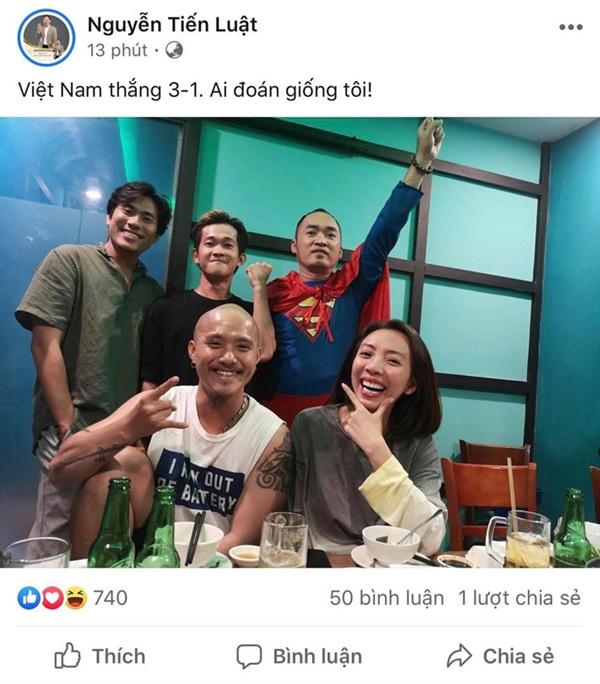 Dàn sao Việt lại được dịp phấn khích trước những bàn thắng liên tiếp của đội tuyển Việt Nam-4