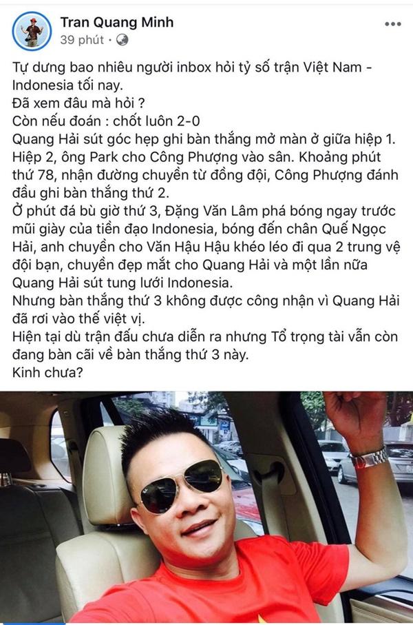 Dàn sao Việt lại được dịp phấn khích trước những bàn thắng liên tiếp của đội tuyển Việt Nam-6