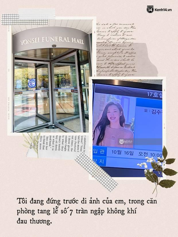 Nhật ký hành trình của một fan Việt đến Hàn Quốc: Tôi đã bật khóc trước di ảnh của em. Tạm biệt nhé, Sulli bé nhỏ!-1