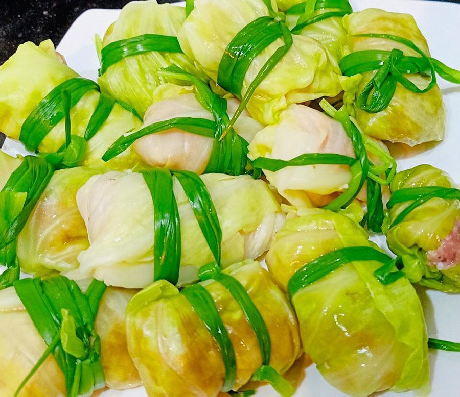 Thịt cuốn lá bắp cải, món ngon dễ làm, chồng nên nấu đãi vợ ngày 20/10-1