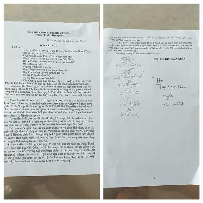 Vụ án chạy thận Hoà Bình: 18 gia đình lại kêu cứu vì cách đền bù như bố thí của công ty Thiên Sơn-2