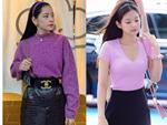 Từng bị chê quê mùa, nay đồ tím giống Jennie (Black Pink) được sao Việt thi nhau diện-8
