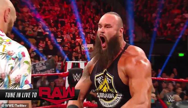 """Gã hề boxing"""" Fury bị dọa tái mặt khi quyết chiến đô vật 2m03-1"""