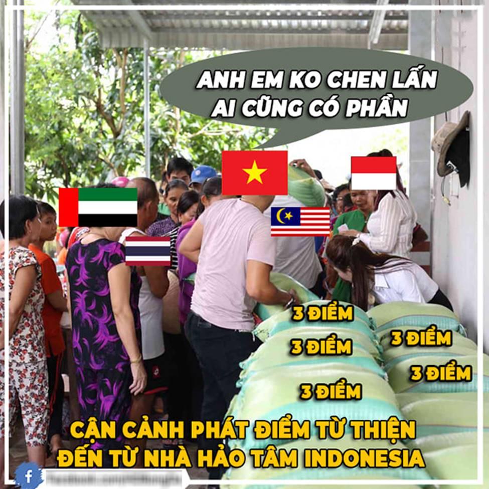 Ảnh chế: Thua Việt Nam, Indonesia mở kho điểm tại vòng loại World Cup 2022-1