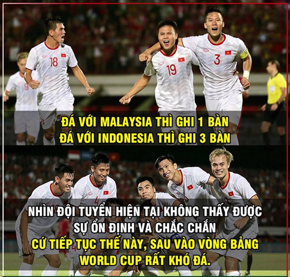 Ảnh chế: Thua Việt Nam, Indonesia mở kho điểm tại vòng loại World Cup 2022-14