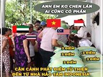 Ảnh chế: Thua Việt Nam, Indonesia mở