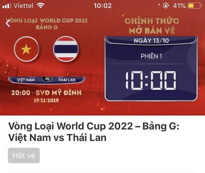 Tỷ lệ chọi mua vé trận Việt Nam - Thái Lan cao hơn chọi thi Đại học-2