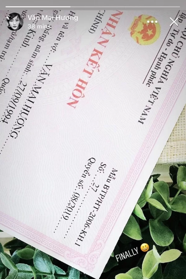 Văn Mai Hương bị bóc phốt lộ giấy đăng ký kết hôn... giả-2