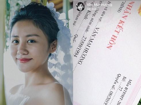 Văn Mai Hương bị bóc phốt lộ giấy đăng ký kết hôn... giả