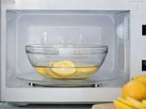 Cắt nửa quả chanh bỏ vào lò vi sóng, mỡ cục đóng cả năm cũng bay nhanh sau 5 phút