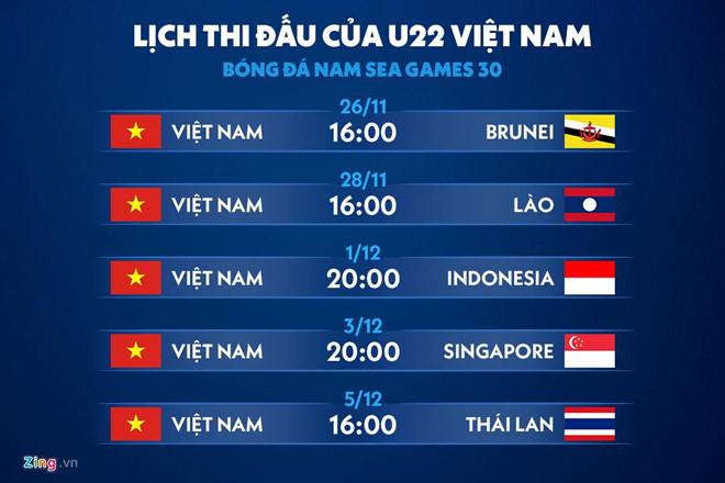 Lịch thi đấu SEA Games 30 tái hiện nỗi ám ảnh của U22 Việt Nam-3