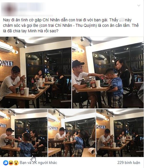 Minh Hà vừa tuyên bố độc thân, Chí Nhân bị bắt gặp hẹn hò tình mới, cách xưng hô với con trai riêng mới gây bất ngờ?-5