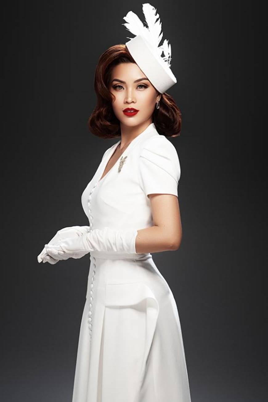 Á hậu Diễm Trang mặn mà, quyến rũ khó cưỡng với style cổ điển-7
