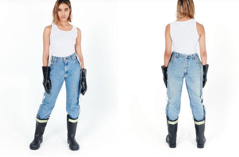 Khoe quần jeans trước sau như một, tưởng không ai dám mặc hóa ra Ngọc Trinh lại đụng hàng với cô em chân siêu dài nhà Kim-3